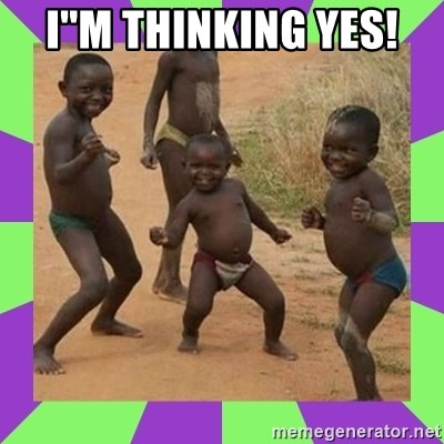 african kids dancing - I''m thinking yes!