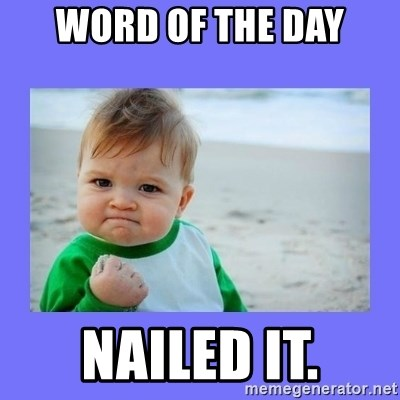 Baby fist - Word of the day Nailed it.