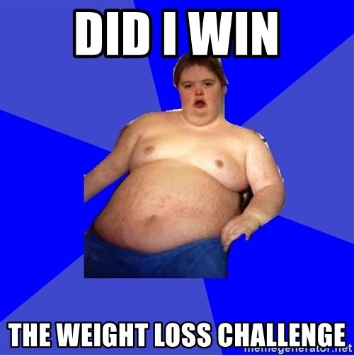 Chubby Fat Boy - Did I win The weight loss challenge