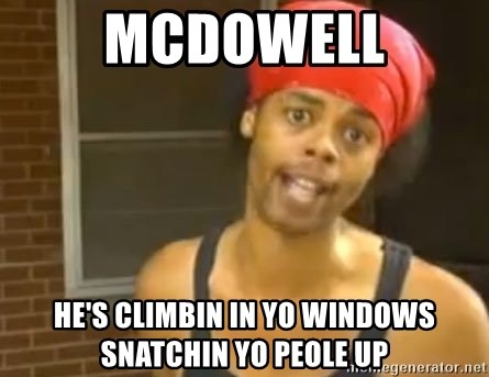 Antoine Dodson - McDowell he's climbin in yo windows snatchin yo peole up