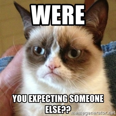 Grumpy Cat  - were you expecting someone else??