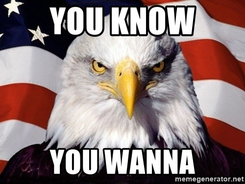 American Pride Eagle - YOU KNOW  YOU WANNA
