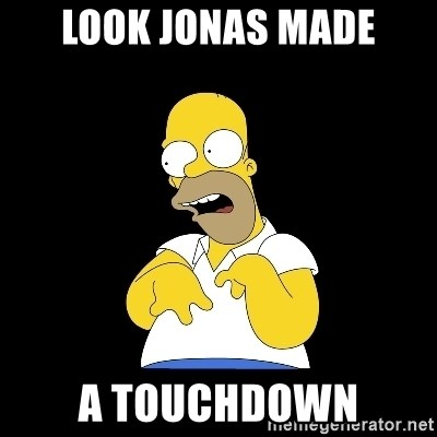 look-marge - LOOK JONAS MADE A TOUCHDOWN