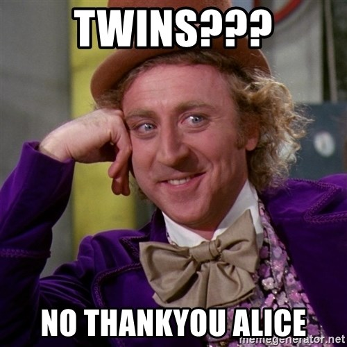 Willy Wonka - twins??? no thankyou alice