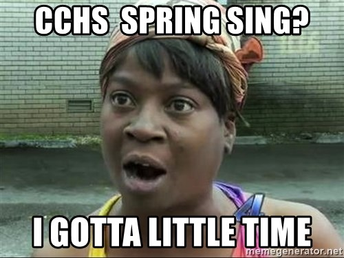 sweet brown surprised - CCHS  spring sing? i gotta little time
