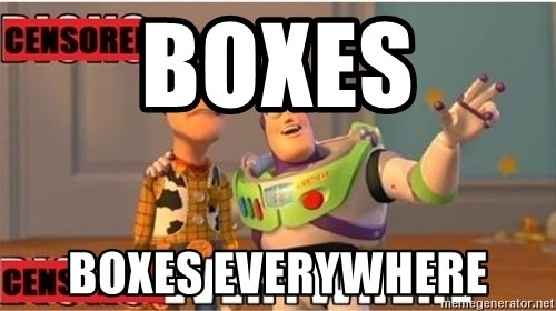 Toy Story Everywhere - boxes boxes everywhere