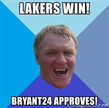 YAAZZ - LAKERS WIN! BRYANT24 APPROVES!