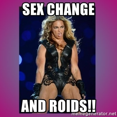 Ugly Beyonce - sEX CHANGE AND ROIDS!!