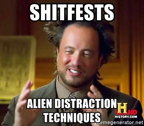 Ancient Aliens - shitfests alien distraction techniques