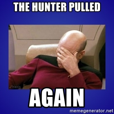 Picard facepalm  - the hunter pulled again