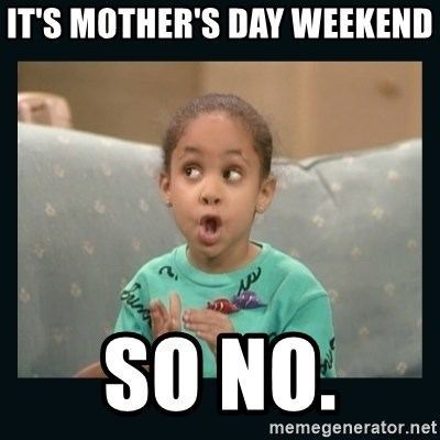 Raven Symone - It's Mother's Day weekend  So no.