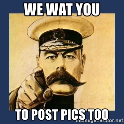 your country needs you - WE WAT YOU TO POST PICS TOO