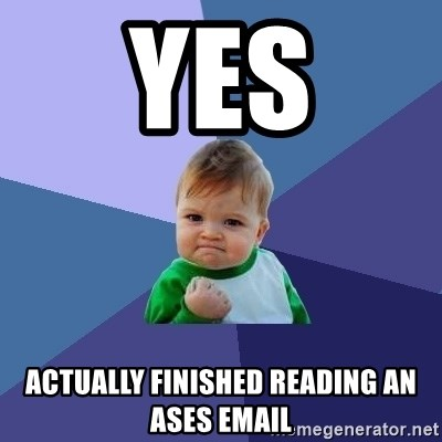 Success Kid - YEs Actually finished reading an ases email