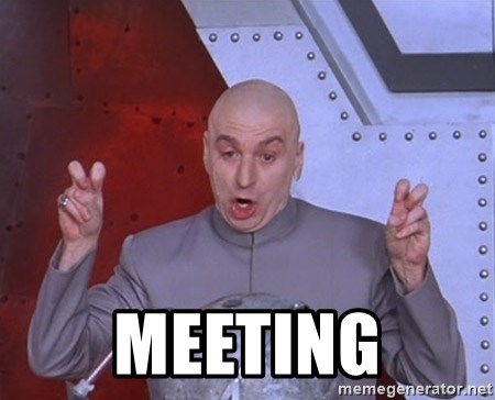 Dr. Evil Air Quotes -  Meeting
