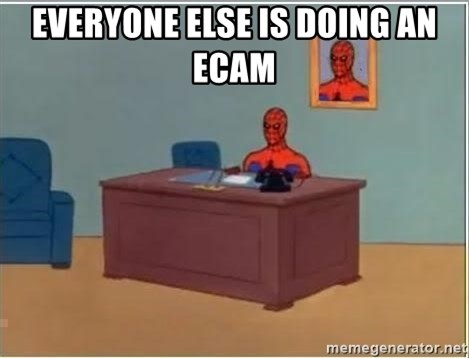 Spiderman Desk - everyone else is doing an ecam