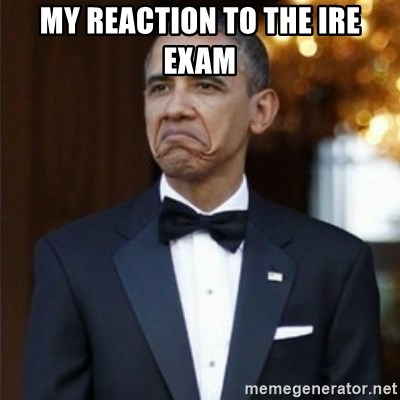 Not Bad Obama - my reaction to the ire exam