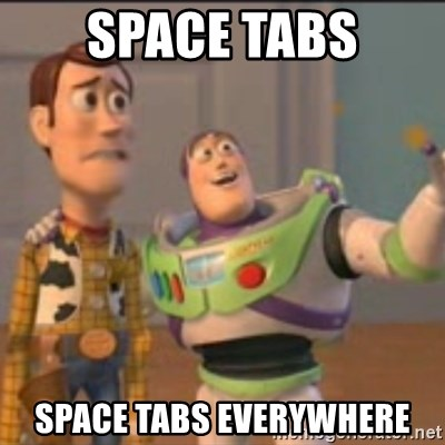 Buzz - space tabs space tabs everywhere