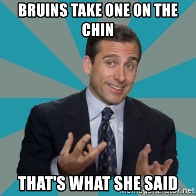 That's What She Said - bruins take one on the chin that's what she said
