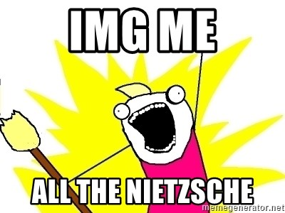 X ALL THE THINGS - img me all the nietzsche