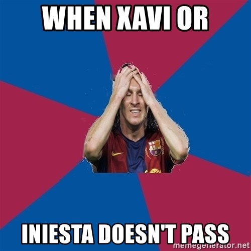 Lionel Messi Problems - WHEN XAVI OR INIESTA DOESN'T PASS