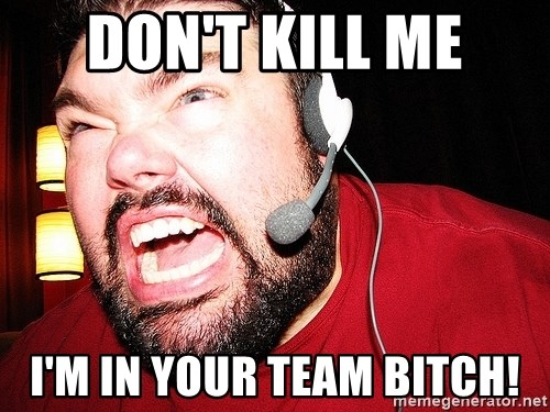 Angry Gamer - DON'T KILL ME I'M IN YOUR TEAM BITCH!