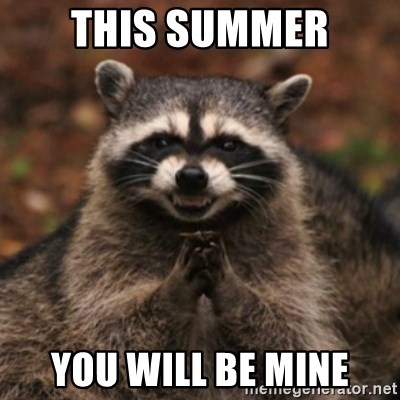 evil raccoon - This summer you will be mine