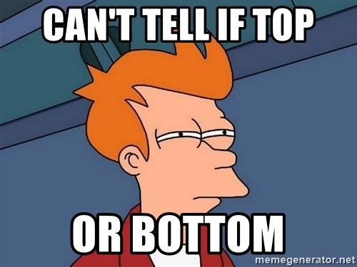 Futurama Fry - Can't tell if top Or bottom
