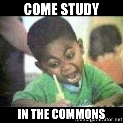 Black kid coloring - COME STUDY IN THE COMMONS