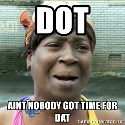 Ain't Nobody got time fo that - Dot Aint nobody got time for dat