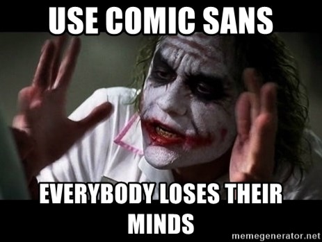 joker mind loss - USE COMIC SANS EVERYBODY LOSES THEIR MINDS