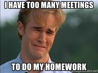 James Van Der Beek - i have too many meetings To do my homework