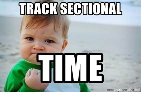 fist pump baby - track sectional time