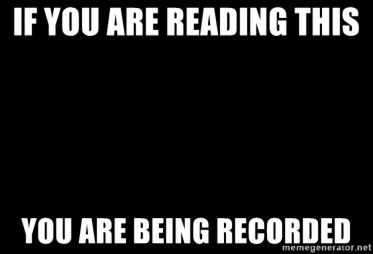 Blank Black - If you are reAding this  You are being recorded