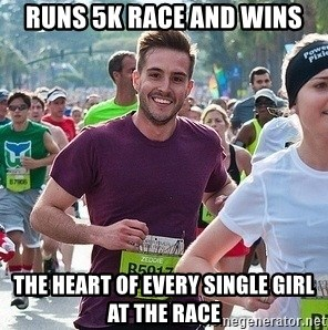Ridiculously photogenic guy (Zeddie) - runs 5k race and wins the heart of every single girl at the race