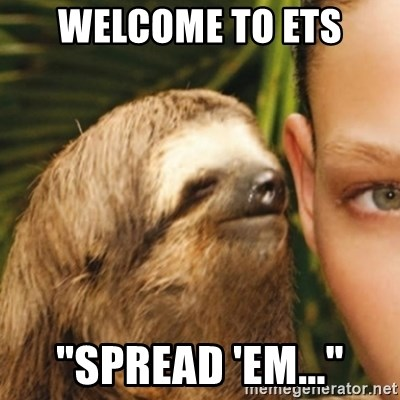 """Whispering sloth - Welcome to ets """"Spread 'em..."""""""