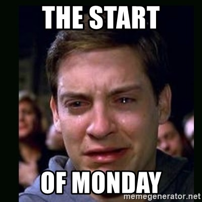 crying peter parker - THE START OF MONDAY