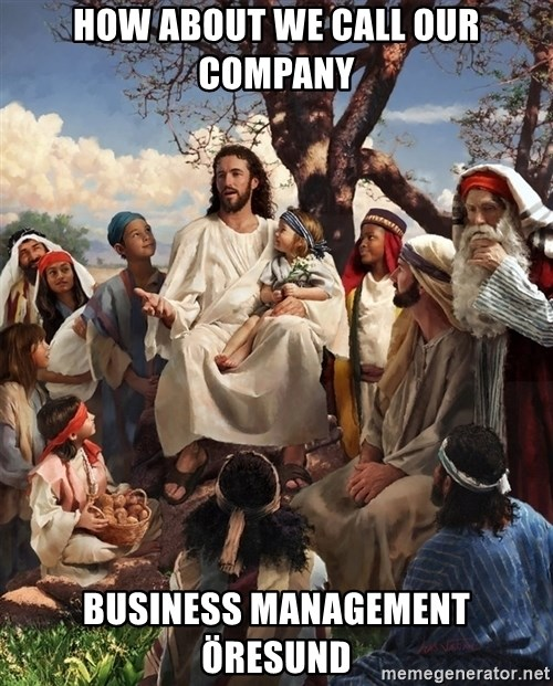 storytime jesus - how about we call our company business management öresund