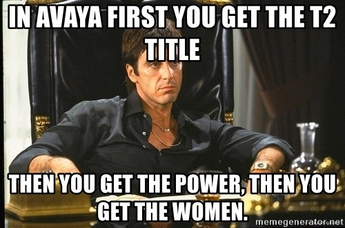 Scarface - in avaya first you get the t2 title then you get the power, then you get the women.