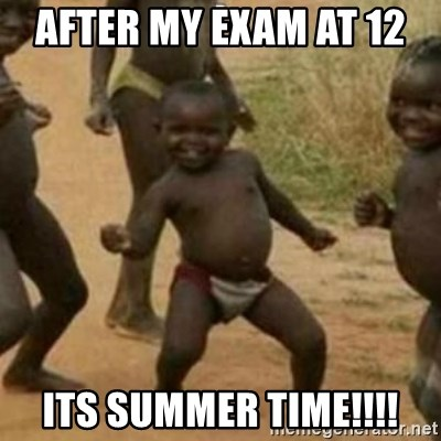 Black Kid - After my exam at 12  Its SUMMER TIME!!!!