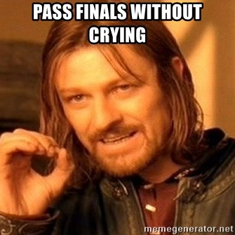 One Does Not Simply - pass finals without crying