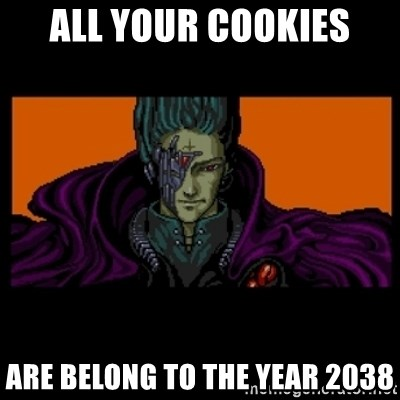 All your base are belong to us - All your cookies are belong to the year 2038