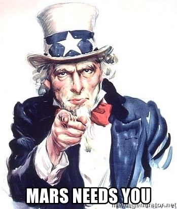 Uncle Sam -  mars needs you