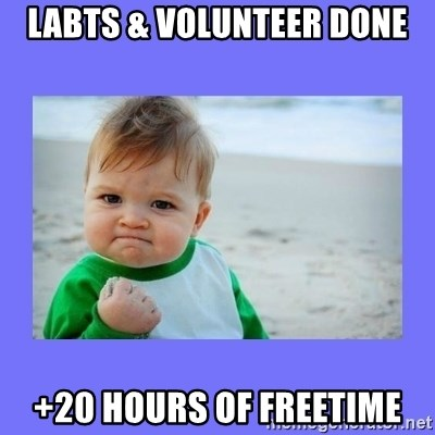 Baby fist - LABTS & Volunteer done +20 hours of freetime