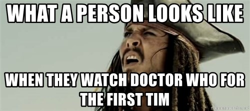 Jack sparrow WTF - What a person looks like  when they watch doctor who for the first tim