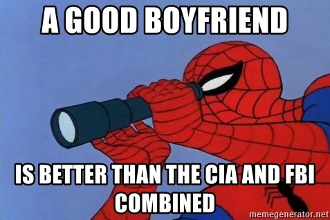 Spiderman Lunar Eclipse - a good boyfriend is better than the cia and fbi combined