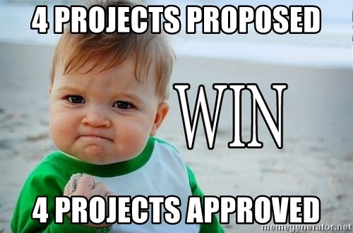 Win Baby - 4 projects proposed 4 projects approved
