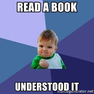 Success Kid - read a book understood it