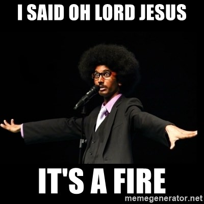 AFRO Knows - I SAID OH LORD JESUS IT'S A FIRE