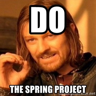 One Does Not Simply - Do the Spring project