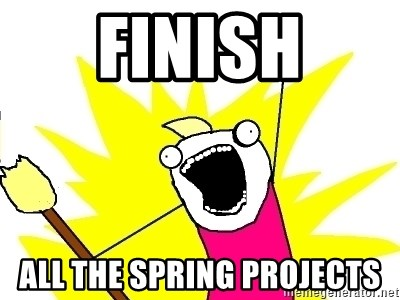 X ALL THE THINGS - Finish all the spring projects